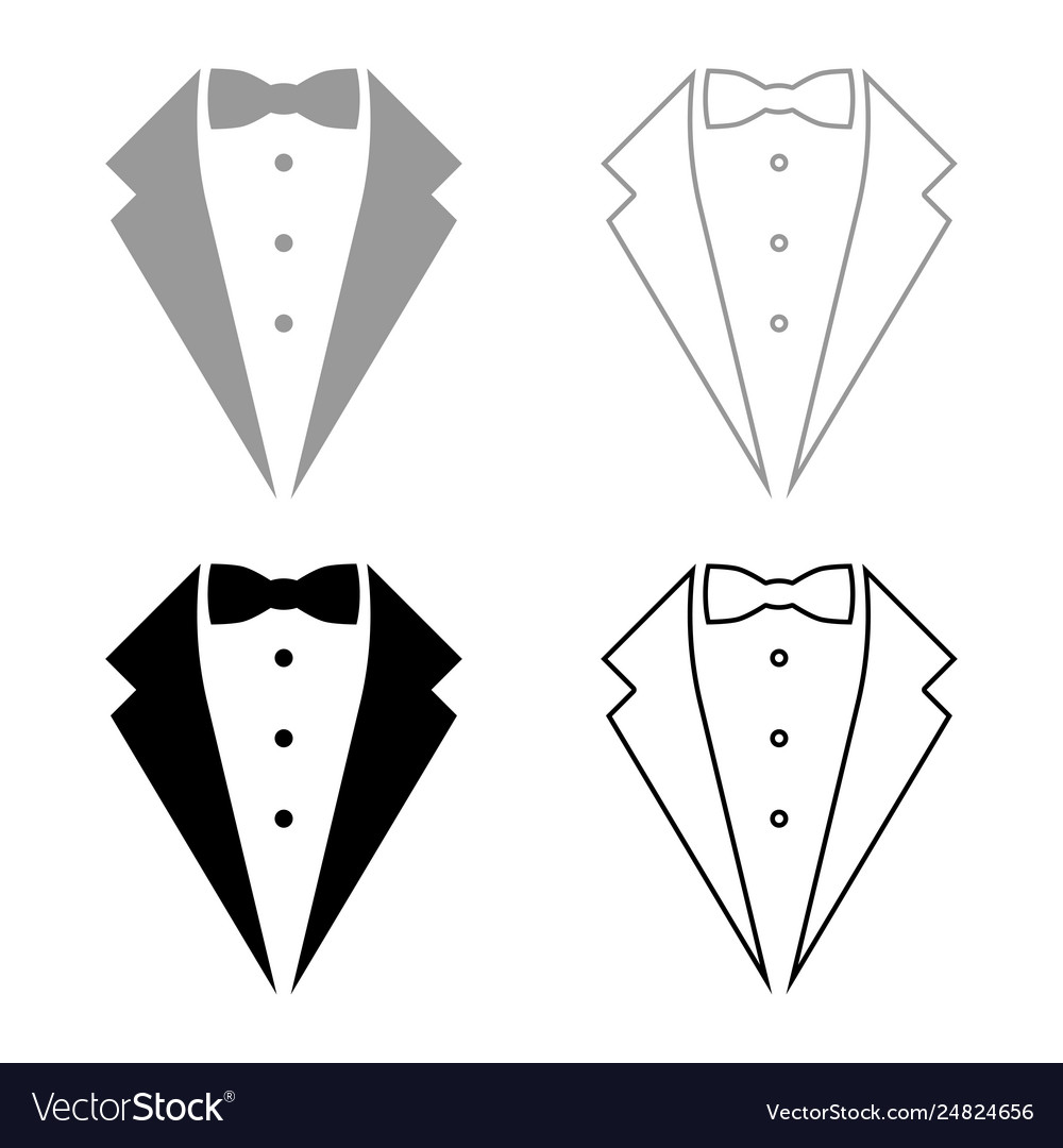 Symbol service dinner jacket bow tuxedo concept