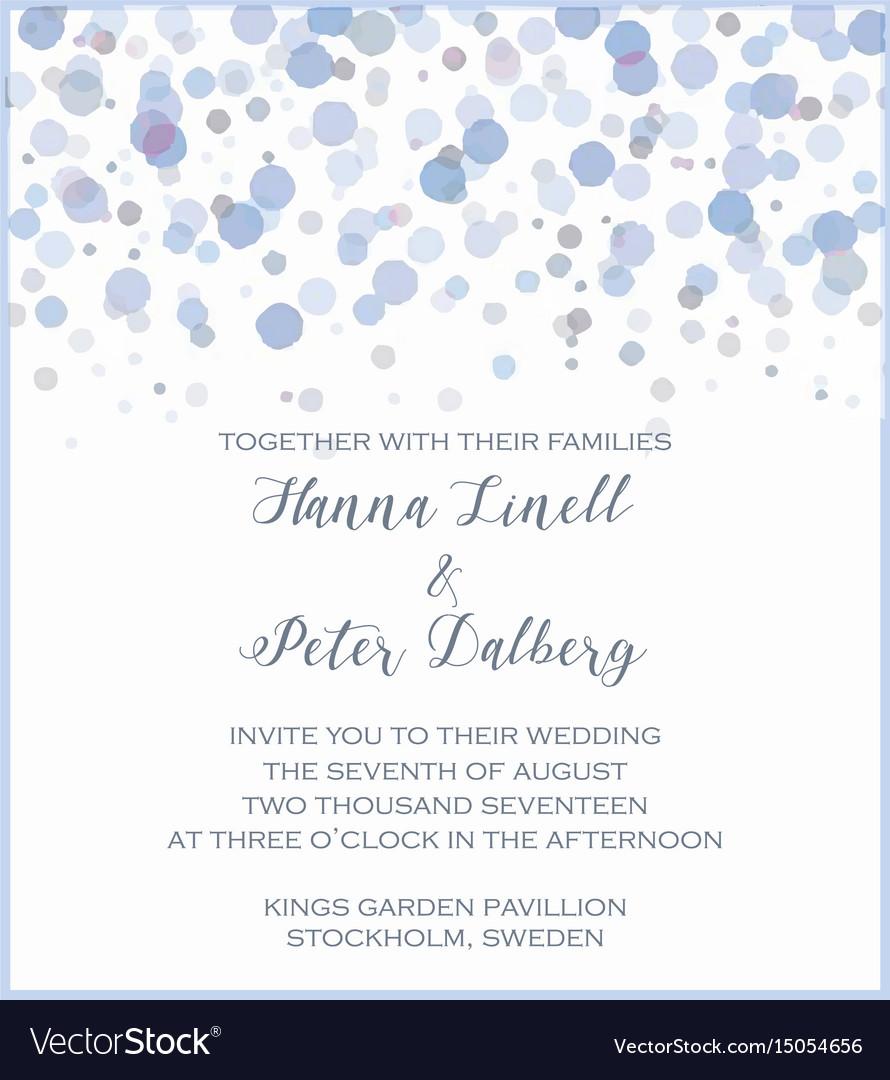 Watercolor wedding invitation Royalty Free Vector Image