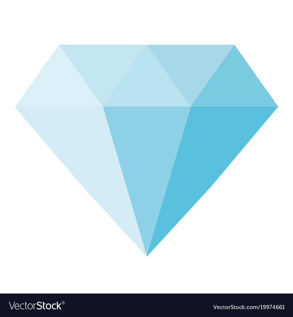 Blue diamond icon on white background blue