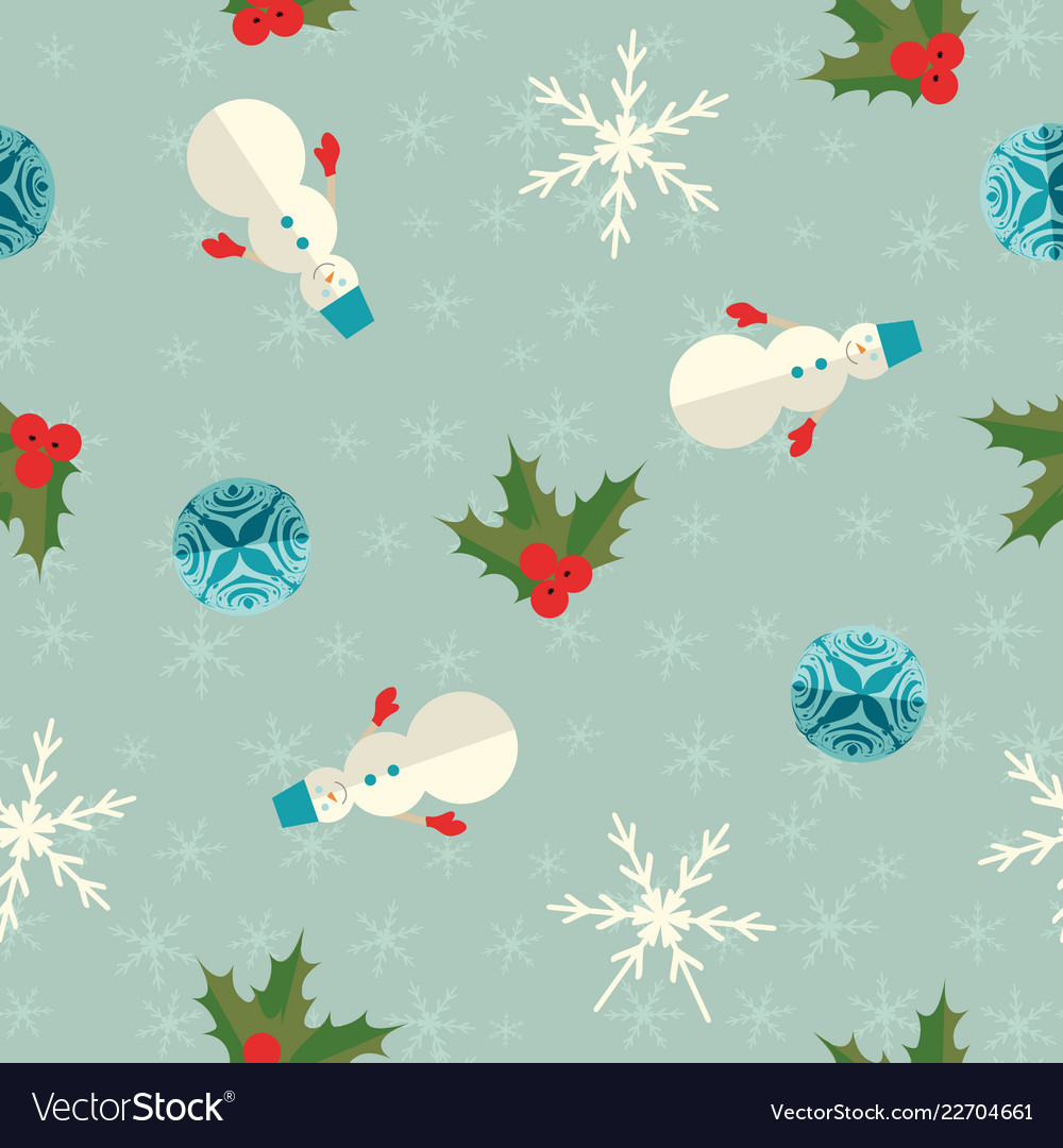 New year seamless pattern vector