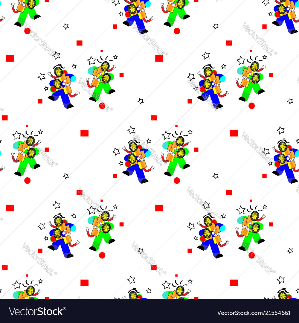Seamless pattern in april fools day and stupid