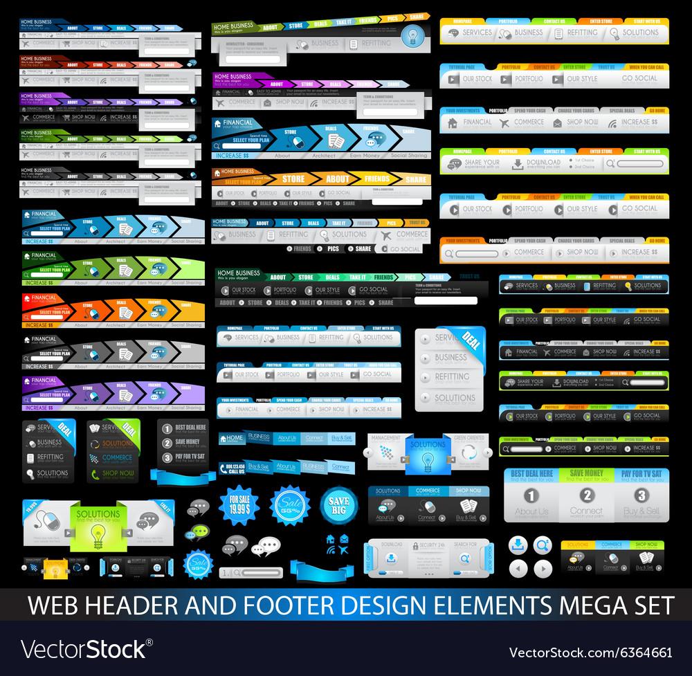WebHeaders MegaSet black