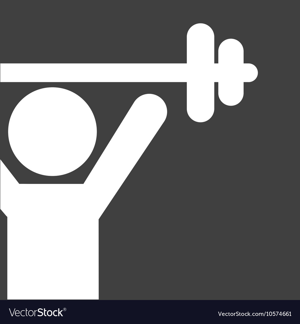 Weight lifting silhouette isolated