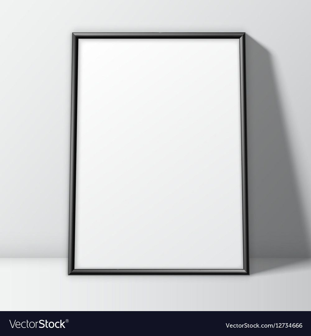 blank white poster template royalty free vector image