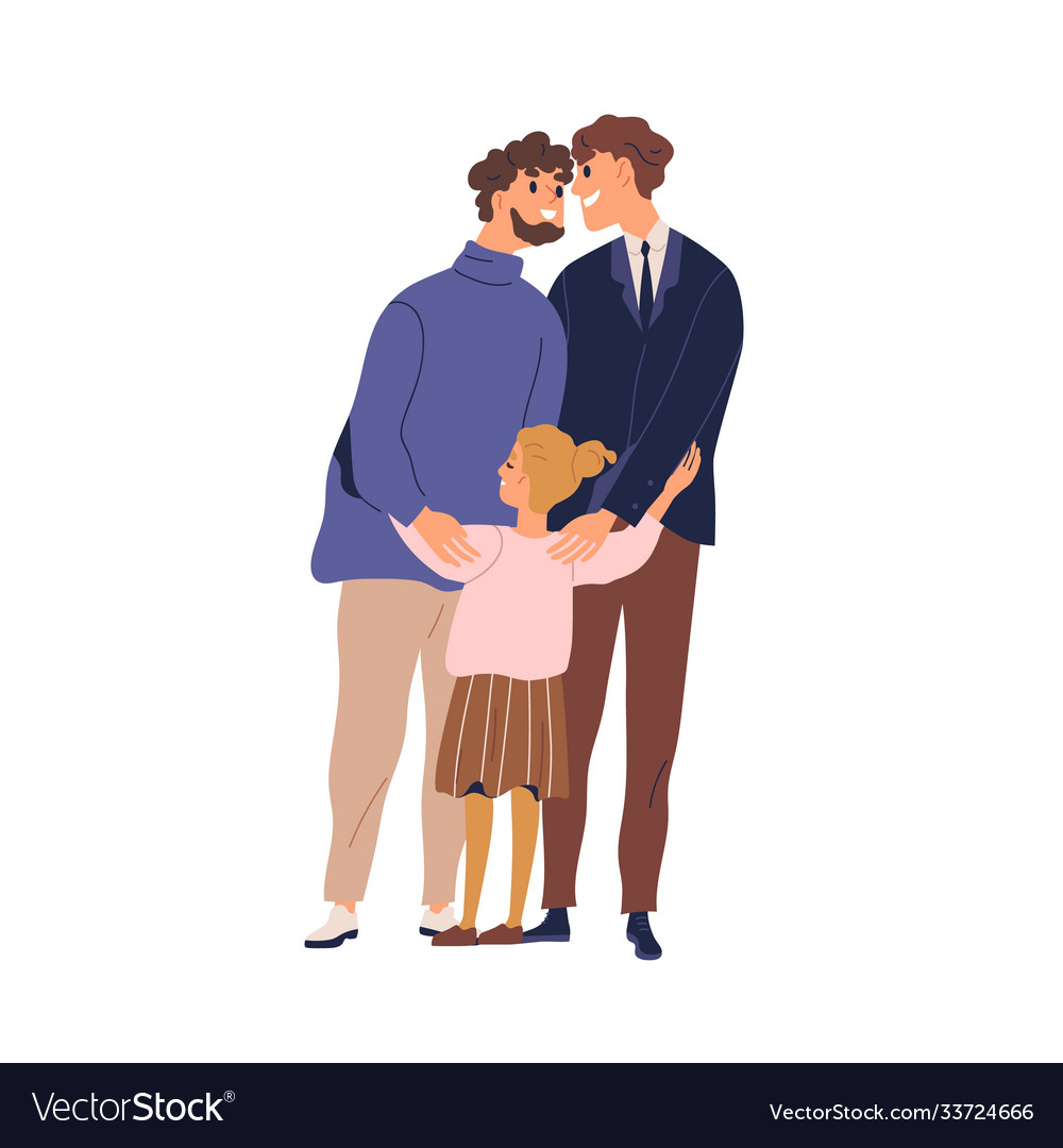 Happy lgbt family hugging and feeling love