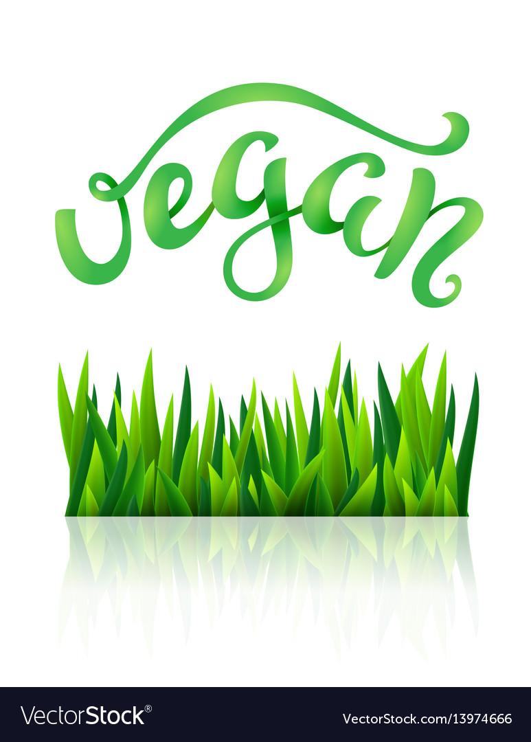 Vegan conceptual handwritten phrase