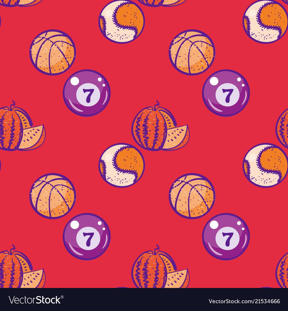Watermelon billiards basketball and baseball