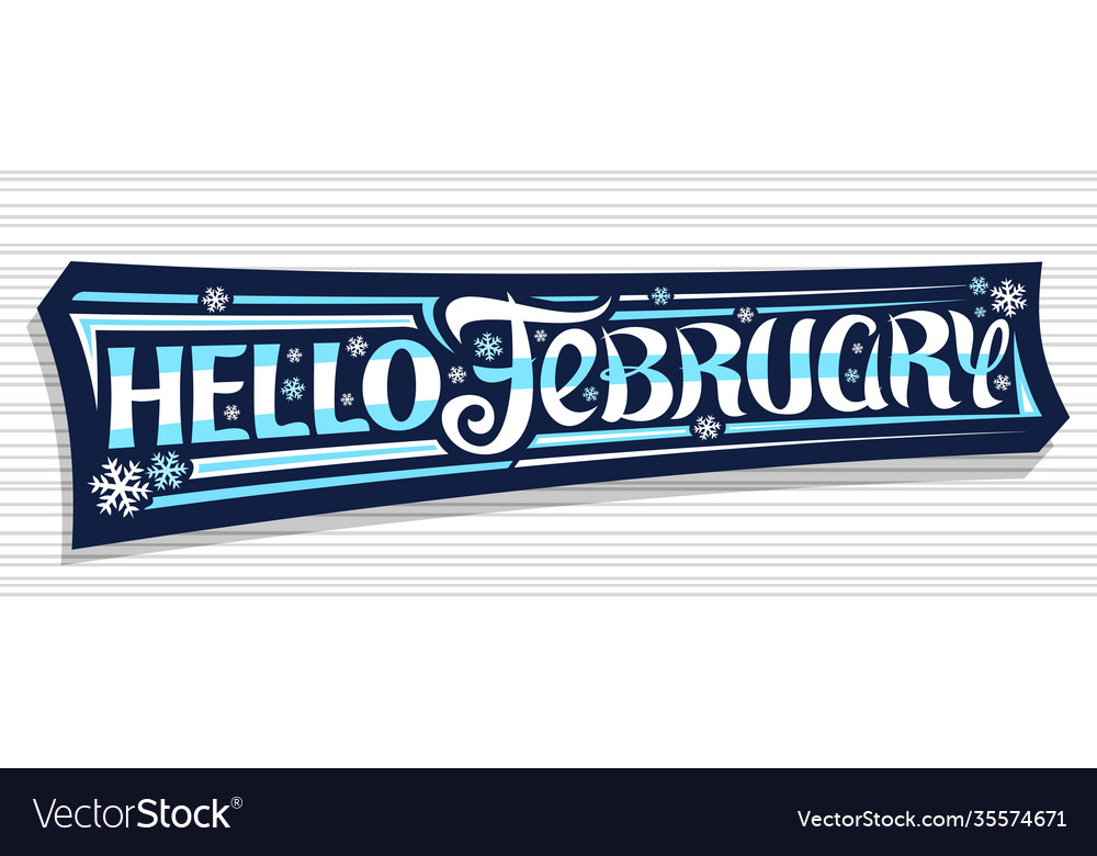 Banner hello february