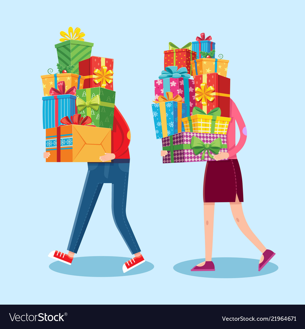 Carry gifts stack carrying christmas stacked