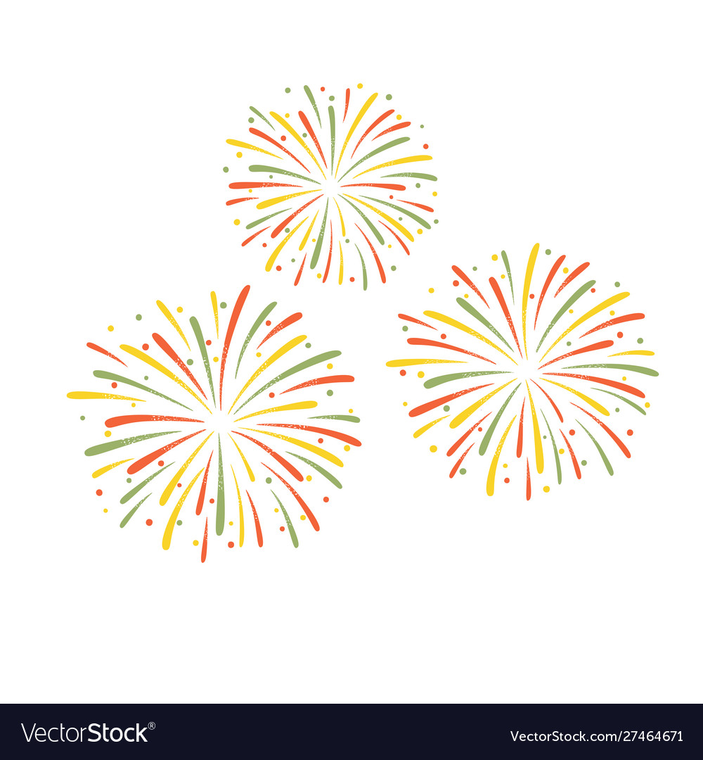 Colorful fireworks isolated