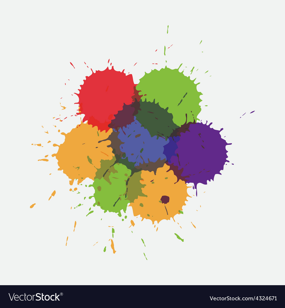 Colorful splashe vector image
