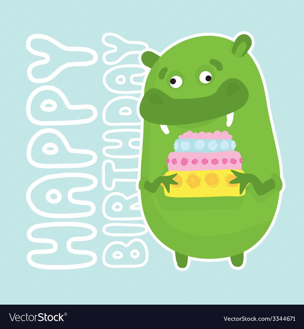 Green birthday monster
