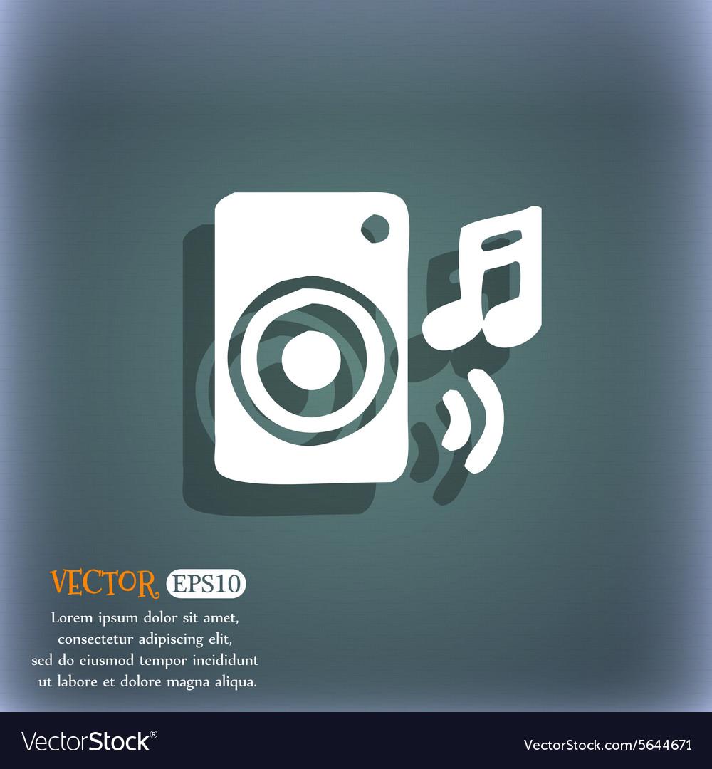 Music column disco music melody speaker icon
