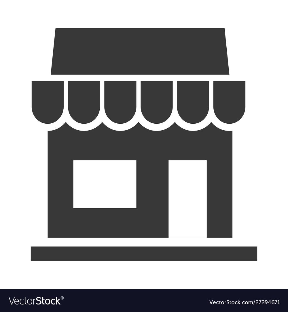 Store black icon shop and retail symbol