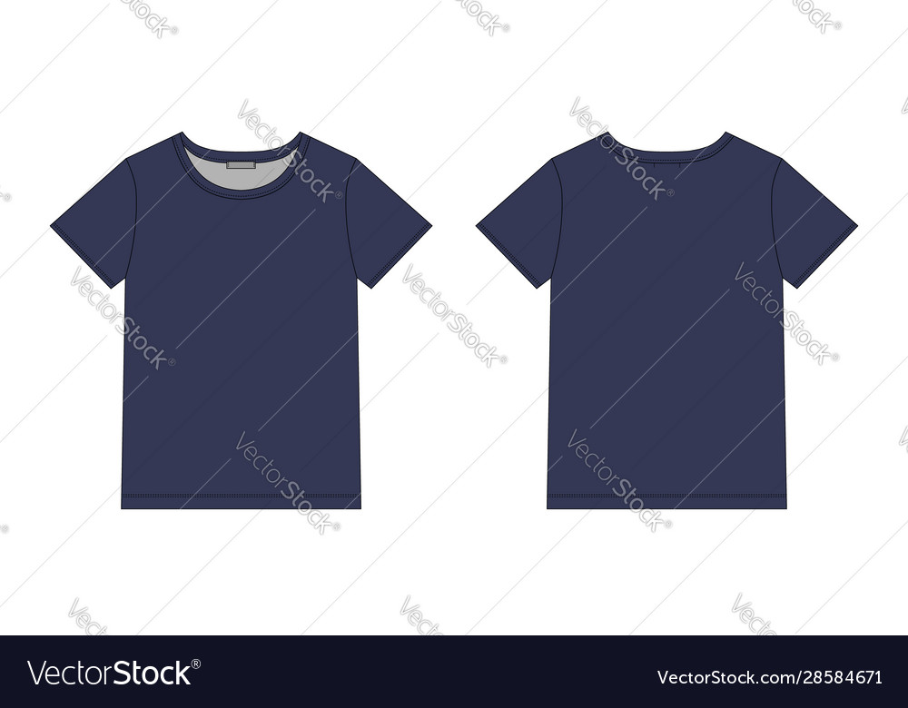 Technical sketch unisex t shirt in blue colors