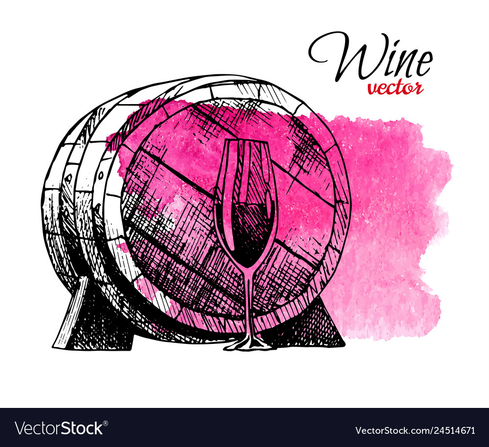 Wine degustation concept in hand drawn design