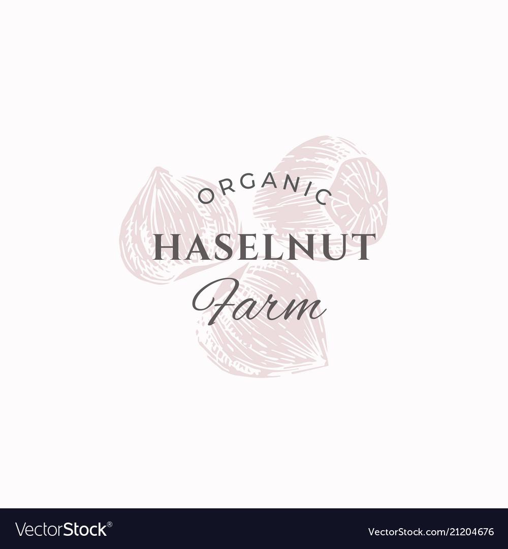 Hazelnut farm abstract sign symbol or logo