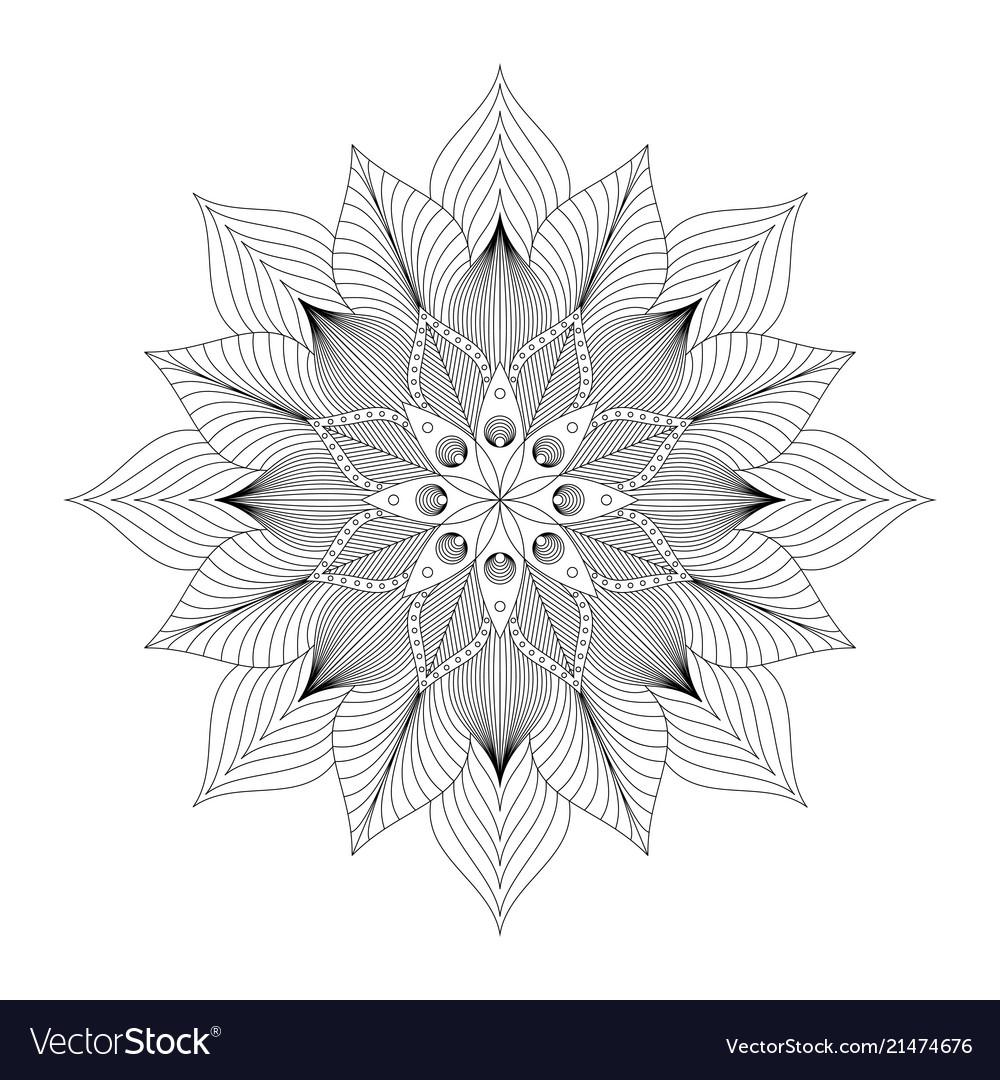 Mandala tribal ethnic ornament art