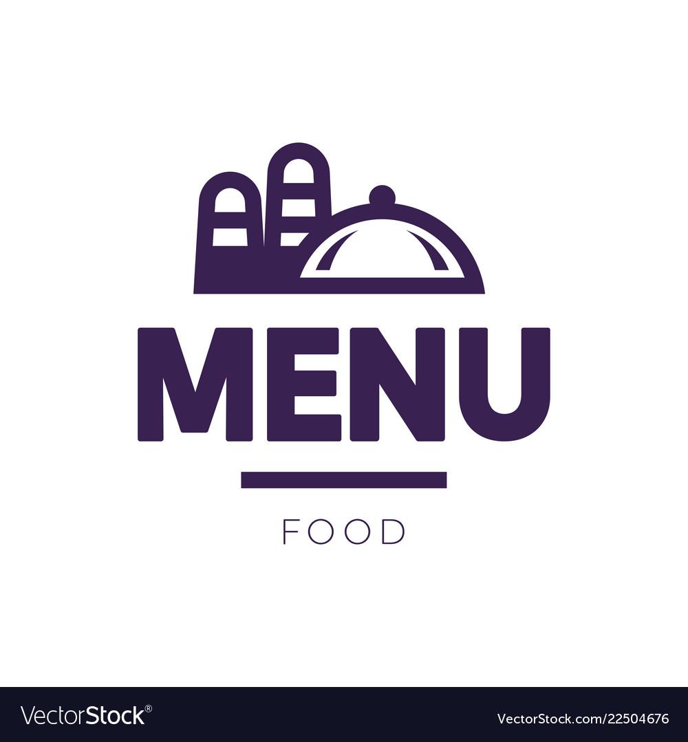 Menu cover sign logo design