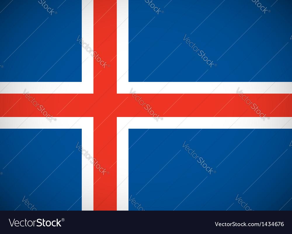 National flag iceland