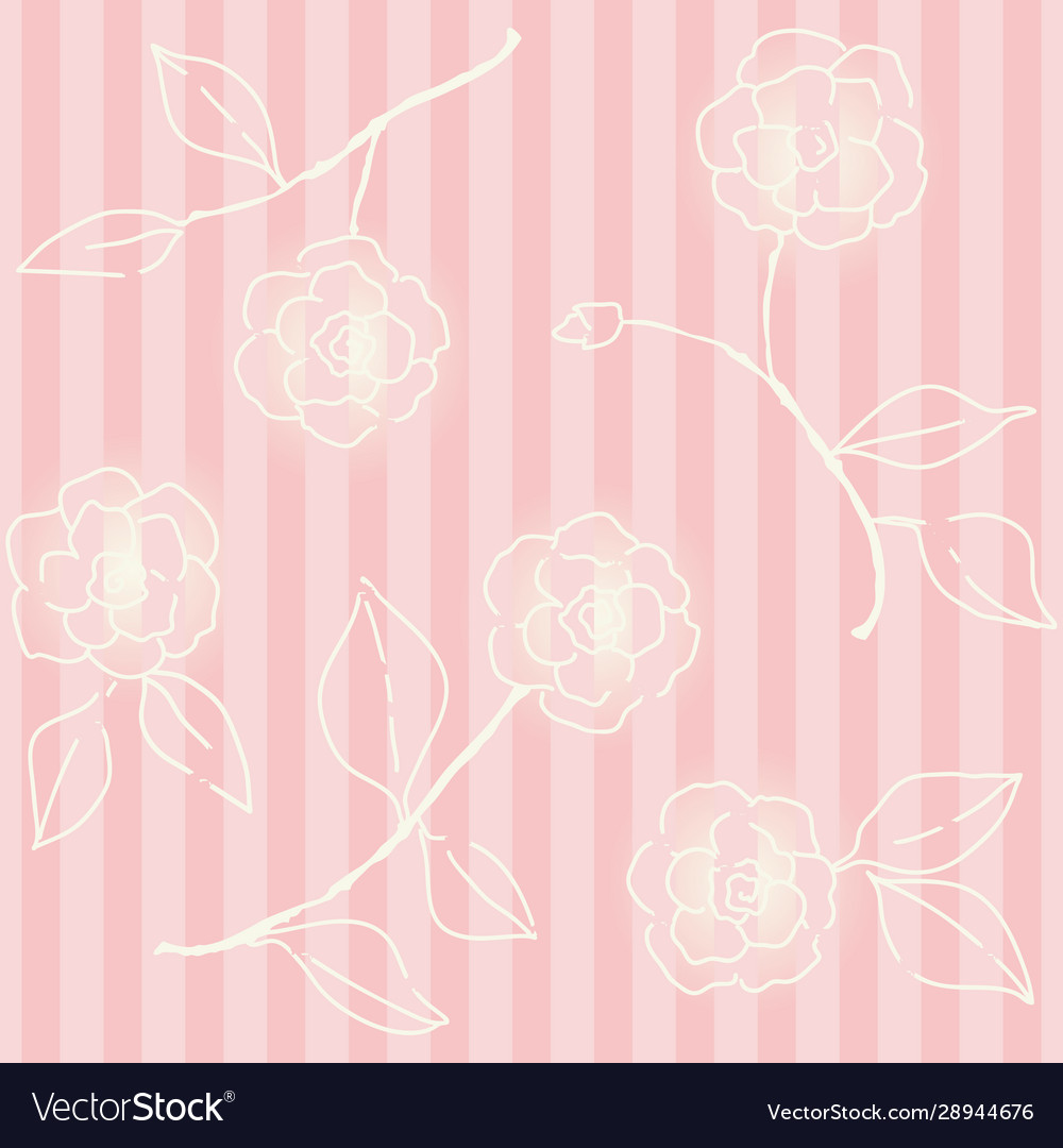 Retro floral seamless backdrop wallpaper