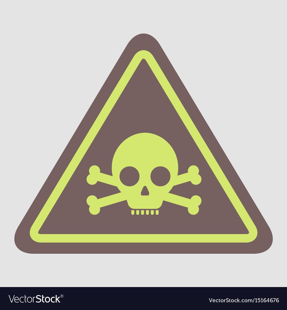 Skull danger road sign