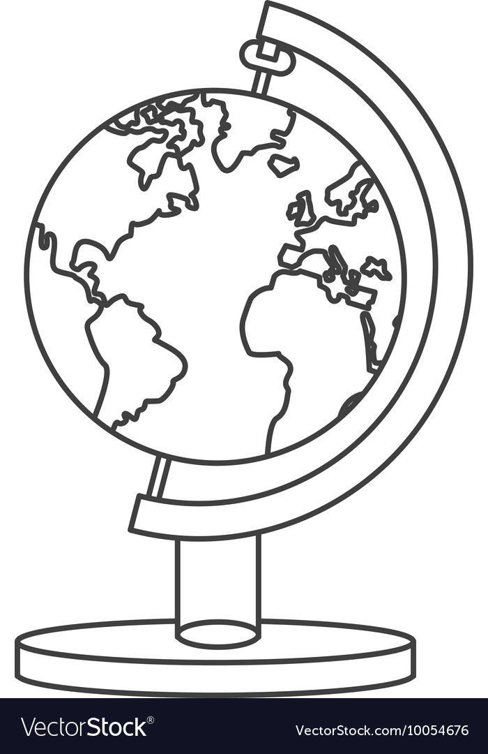 Spinning world map icon vector image