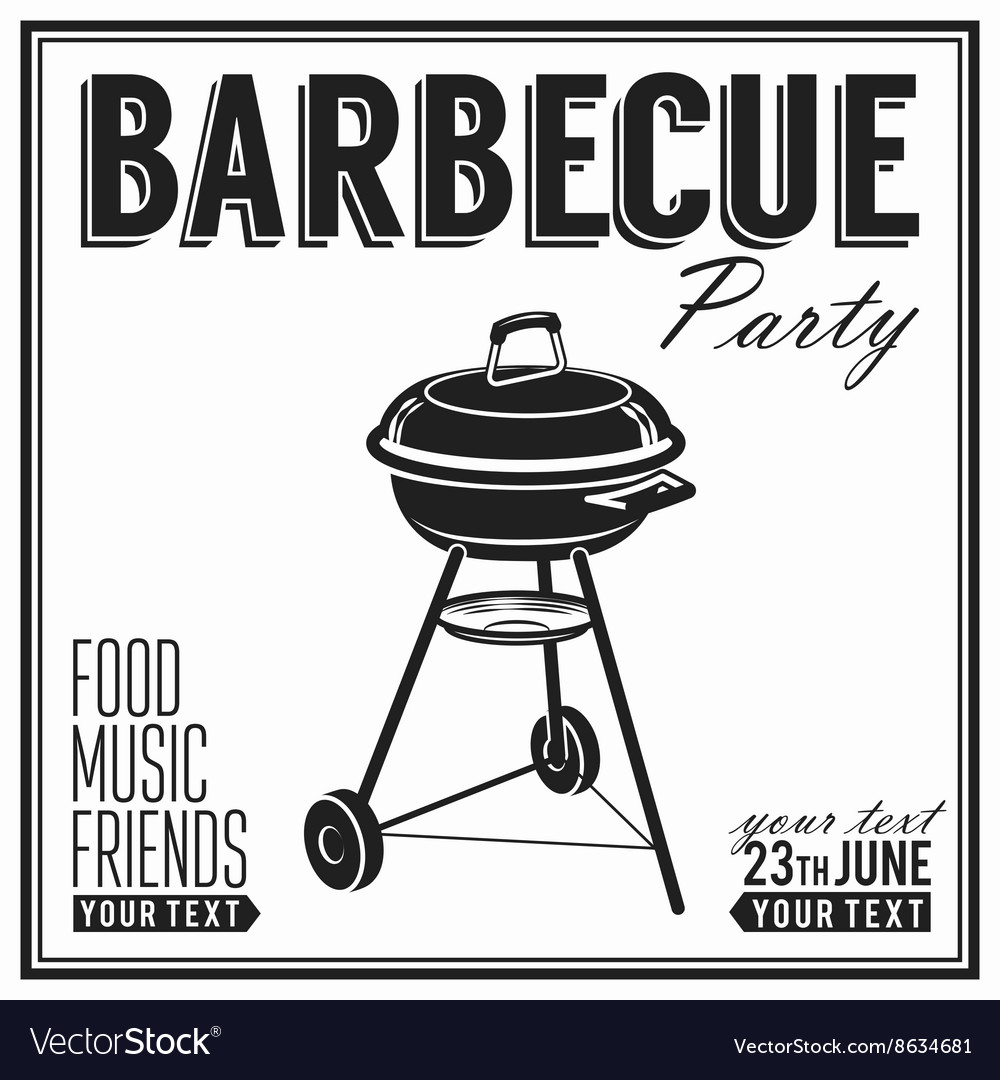 Bbq grill party design poster banner