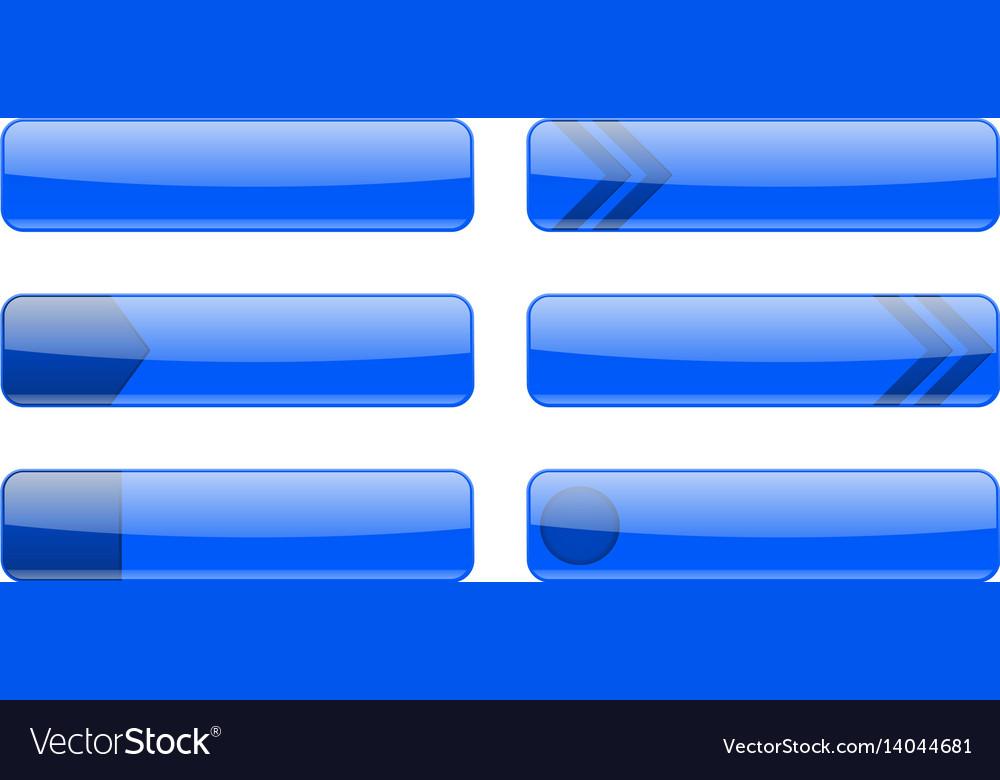 Blue menu buttons vector image