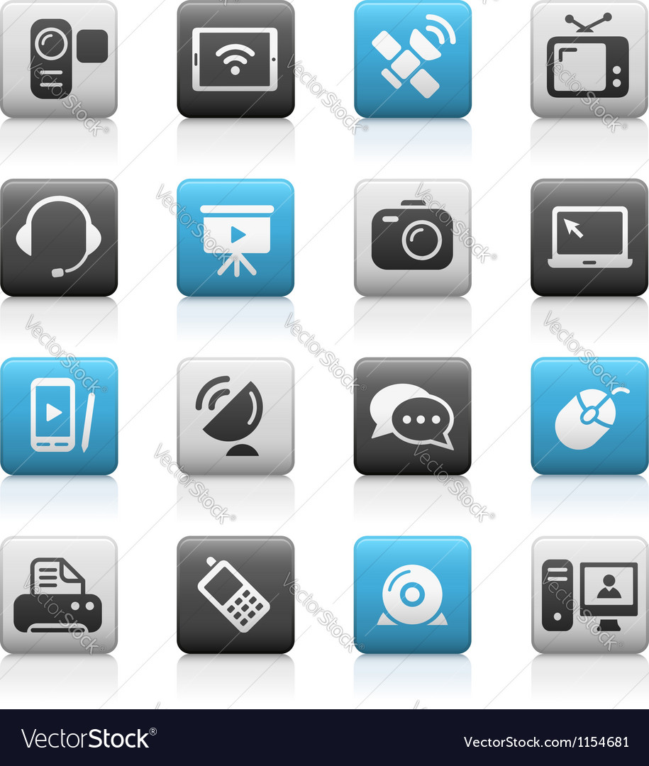 Communications Icons Matte Series vector image