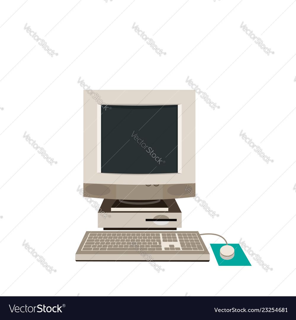Desktop pc computer equipment old