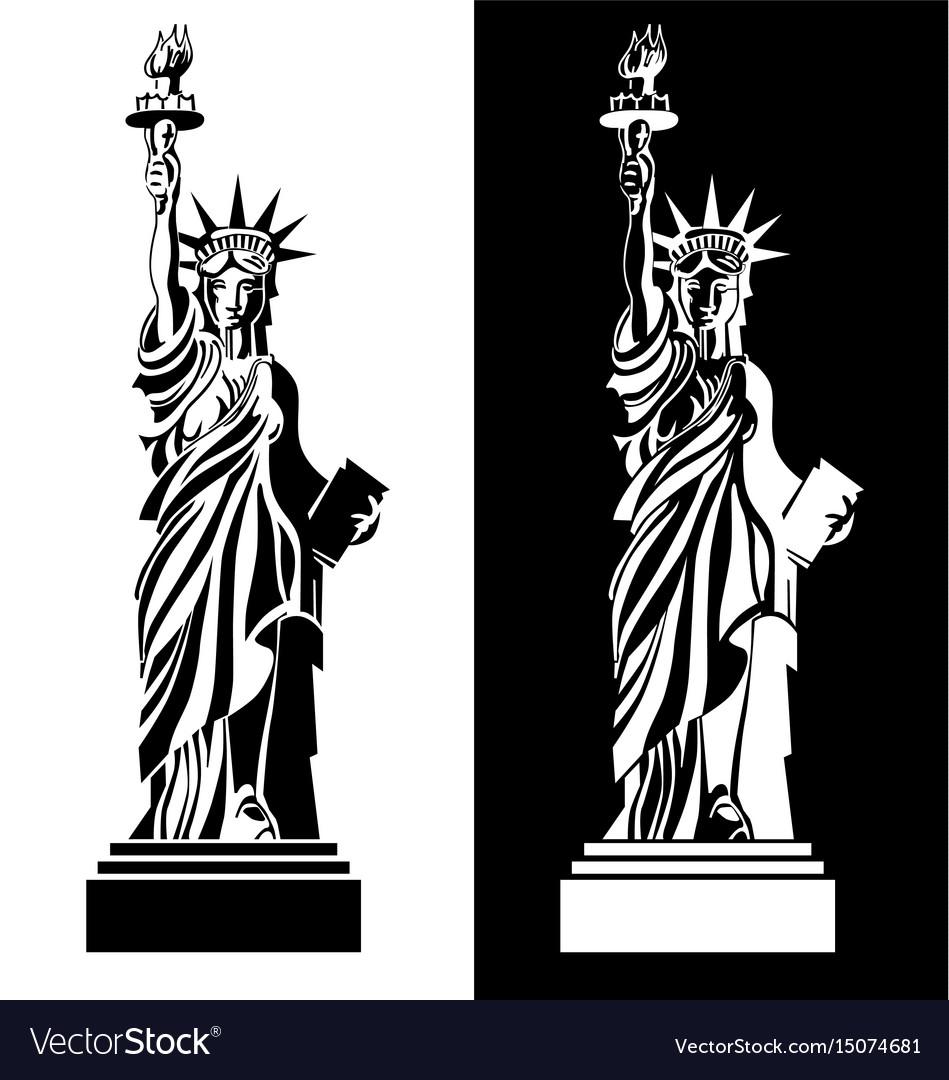 Drawing statue liberty usa symbol