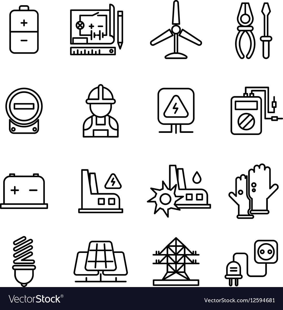 Electricity Industry Electrical Engineering Vector Image