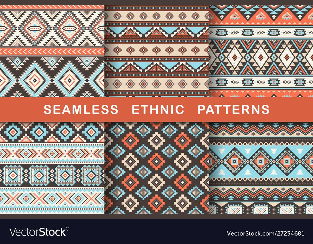 Ethnic seamless patterns