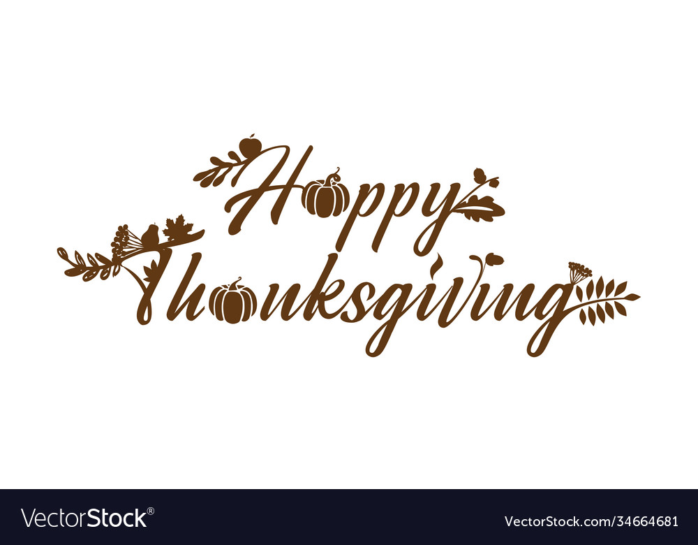 Happy thanksgiving lettering vegets
