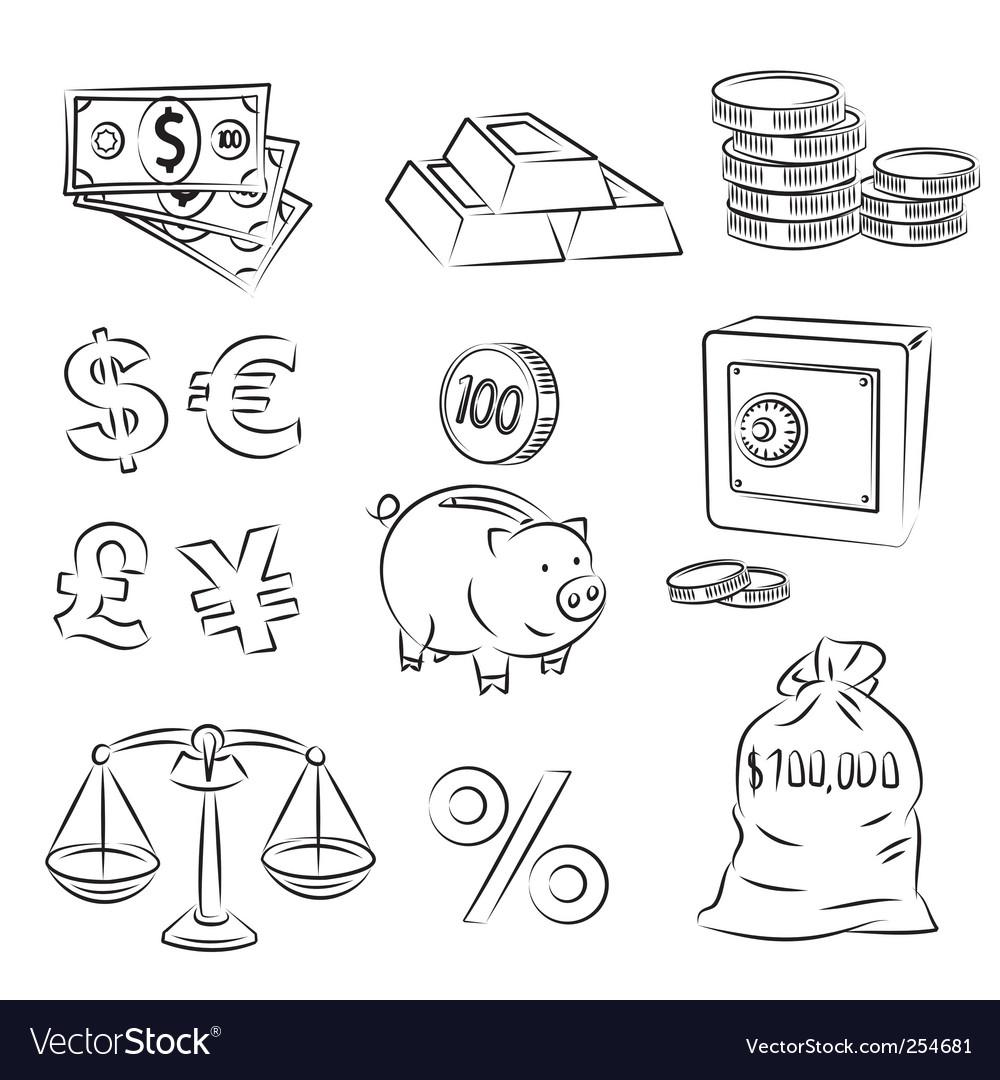 Money sketch set