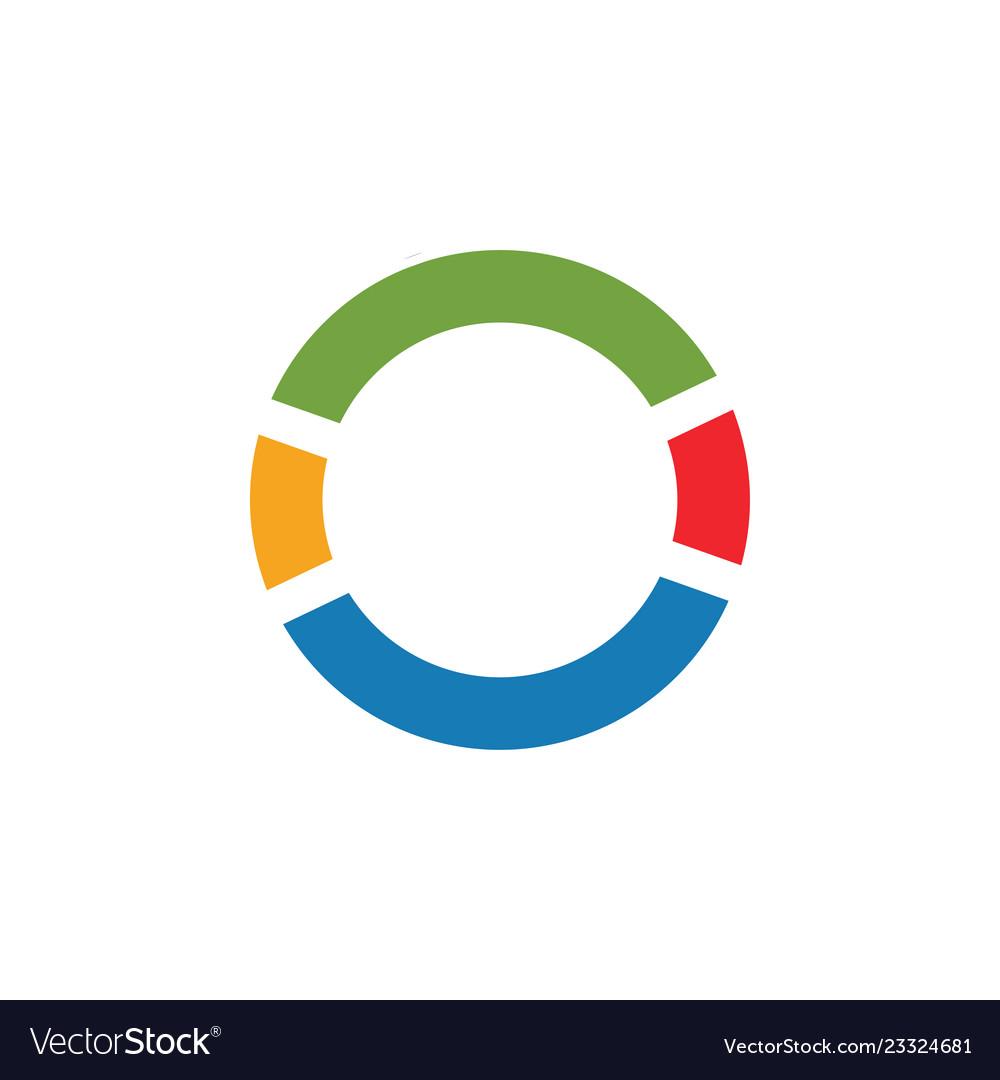 Pie chart graphic icon design template