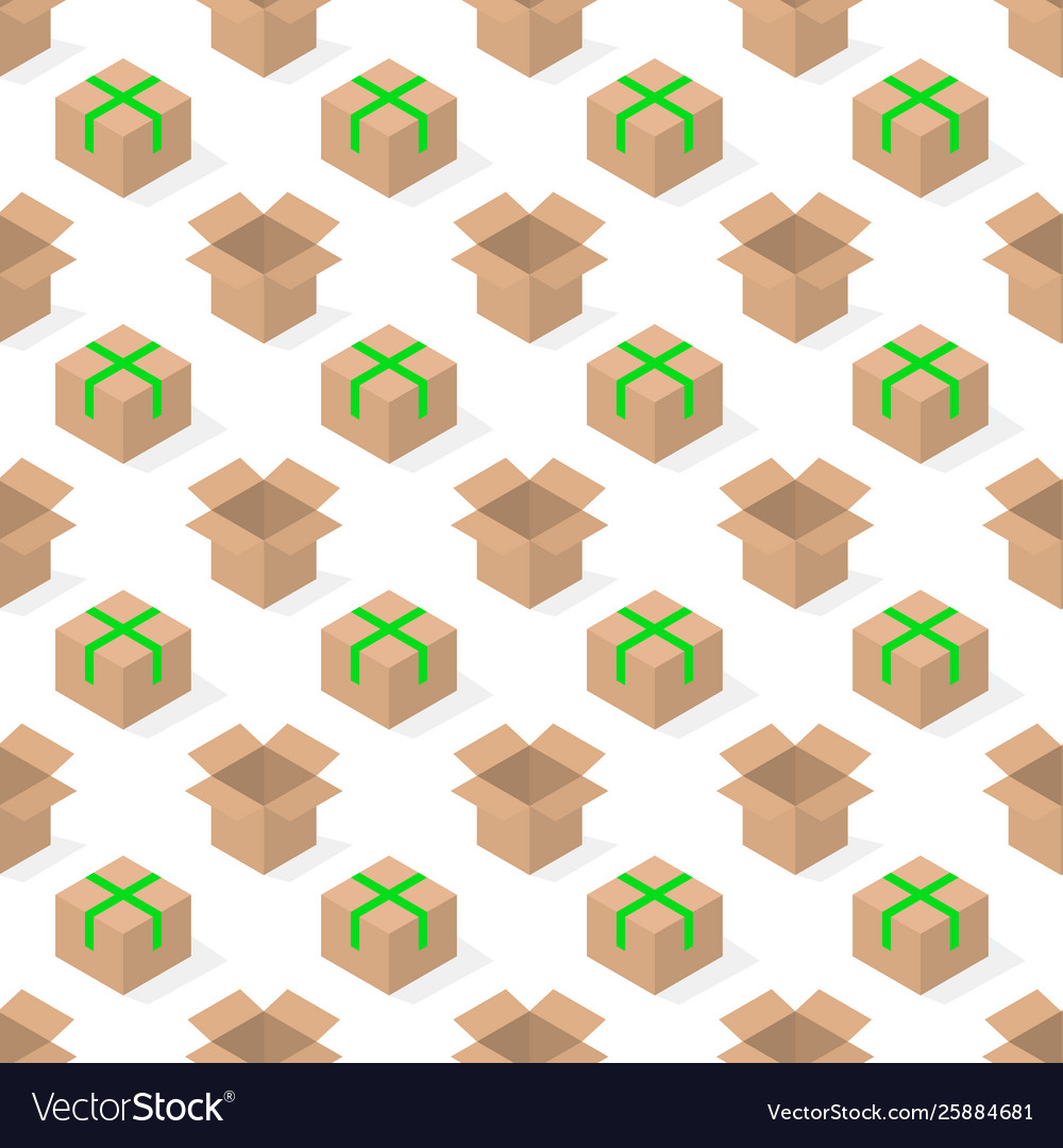 Seamless background from a set cardboard boxes