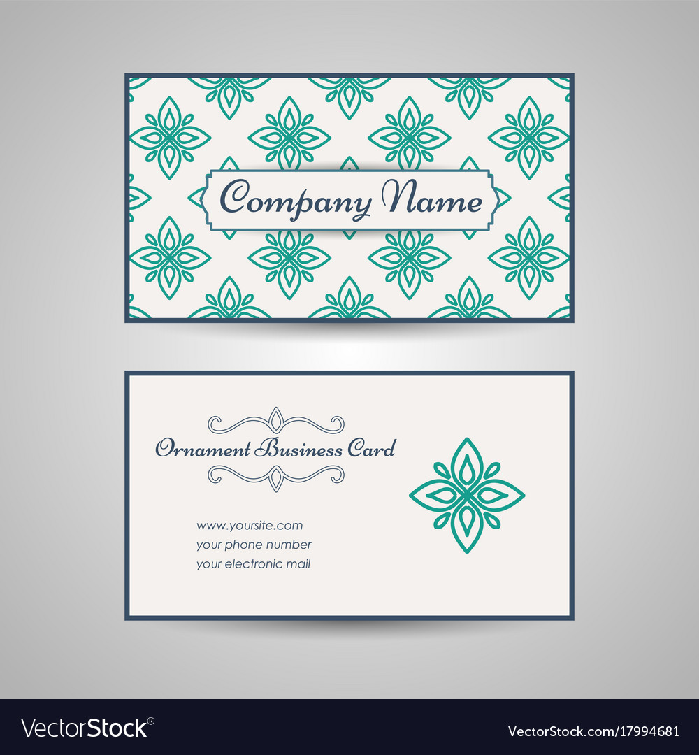 Vintage arabic style business card template vector image colourmoves