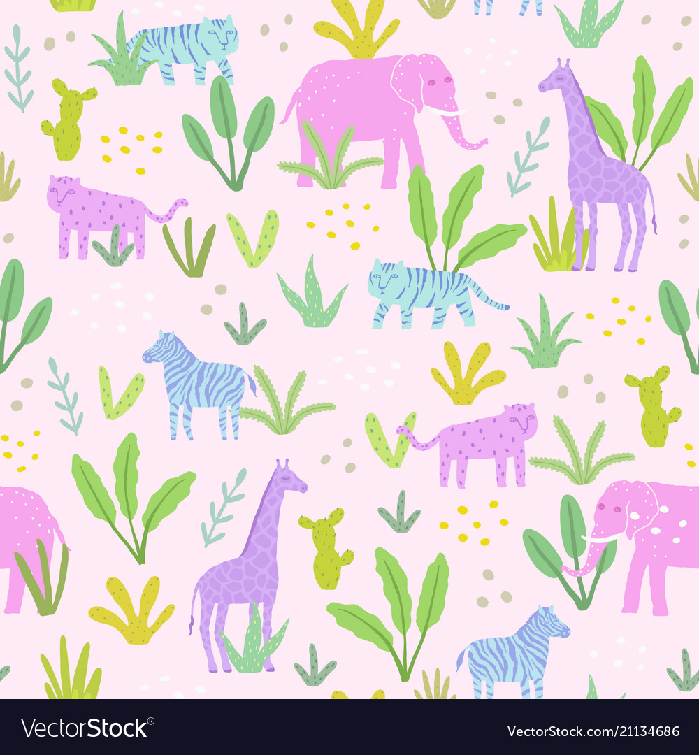 Animals in the jungle vector image