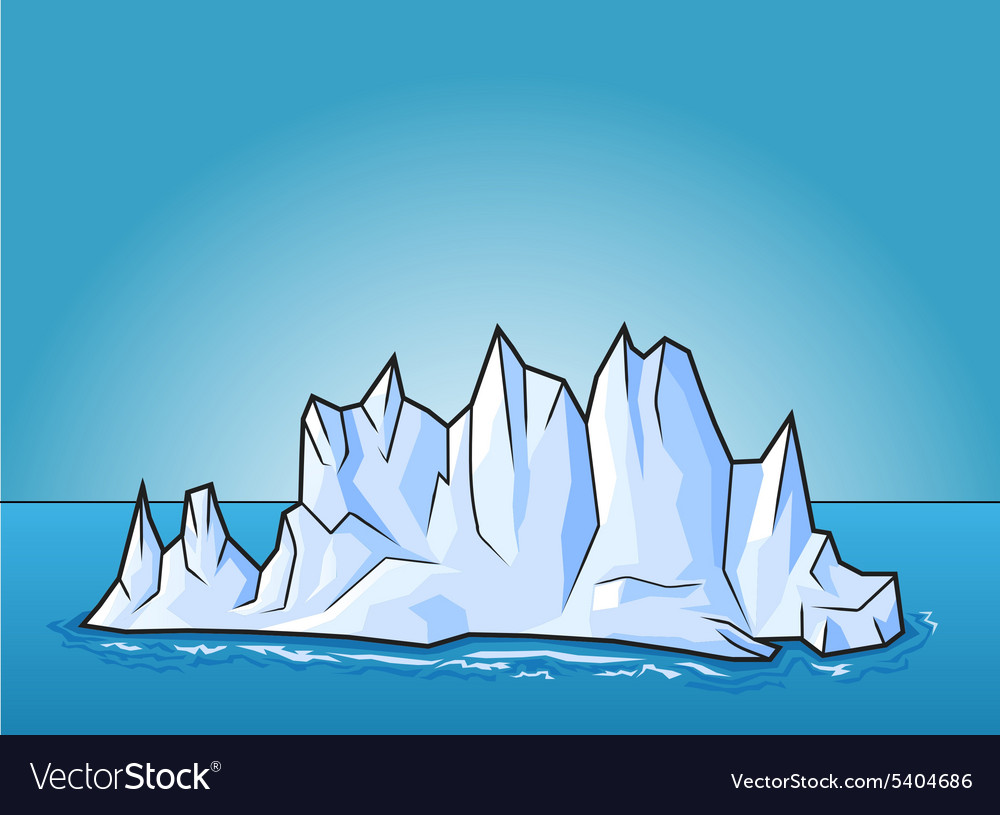 cartoon ice berg royalty free vector image vectorstock vectorstock
