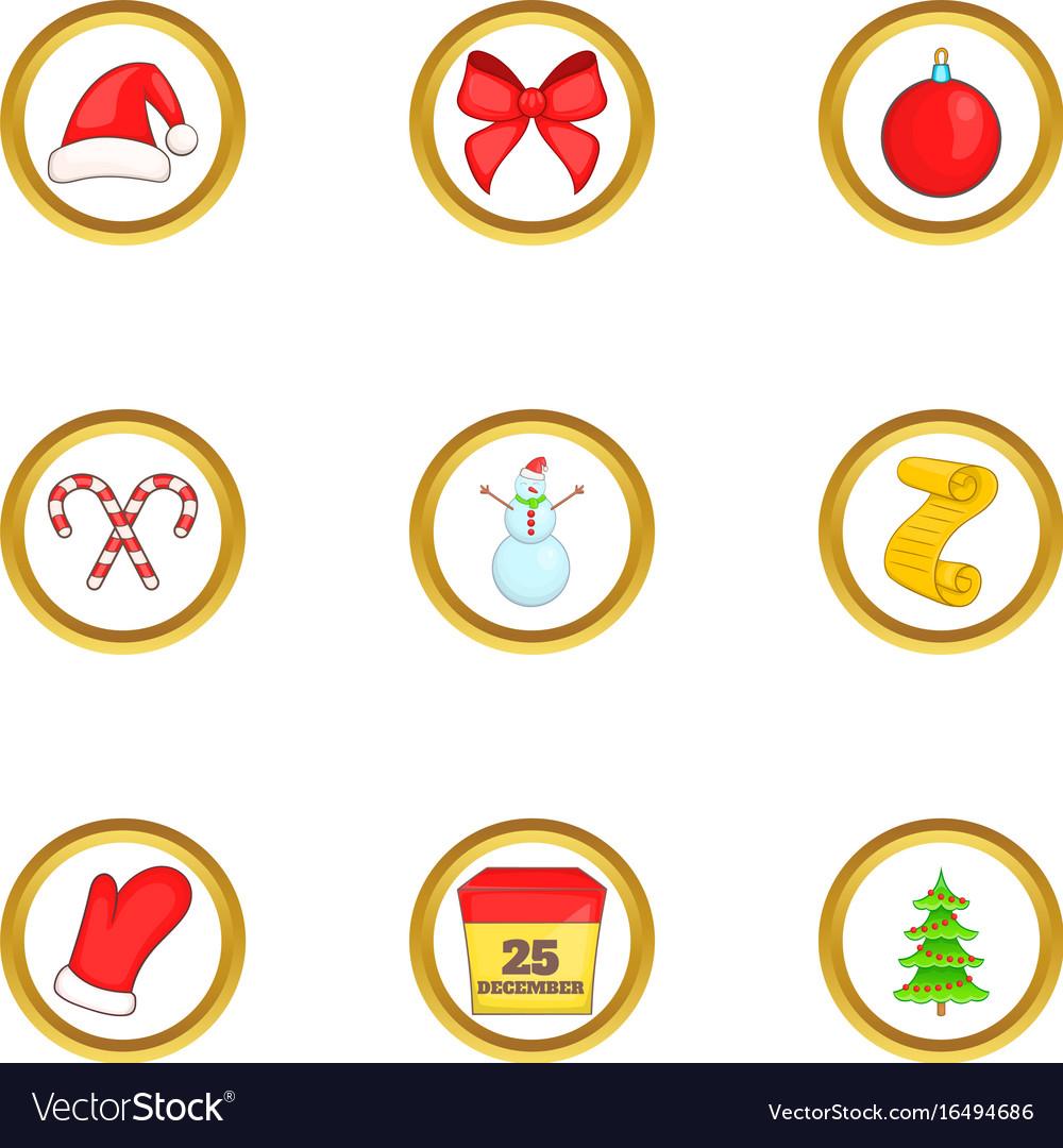Christmas Things.Christmas Things Icons Set Cartoon Style