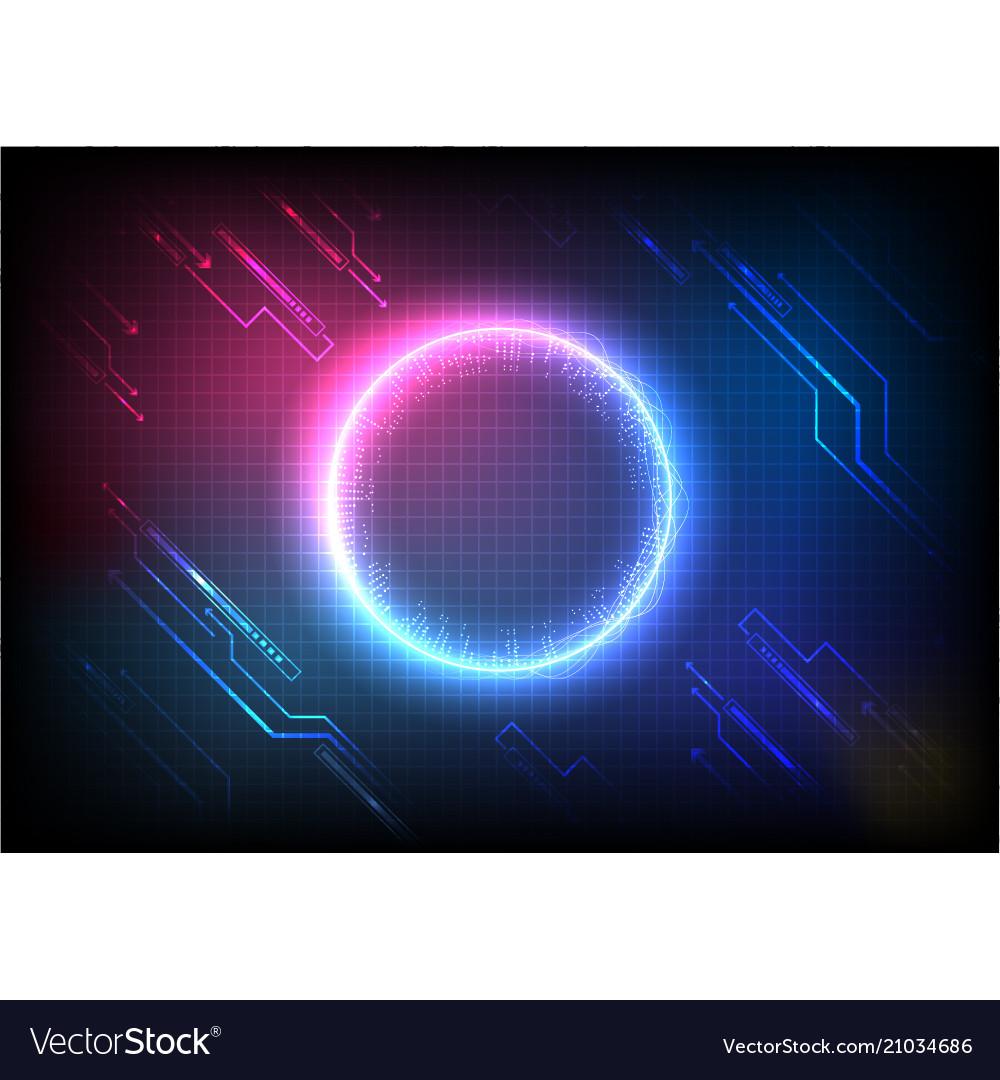 Color pixel digital futuristic technology
