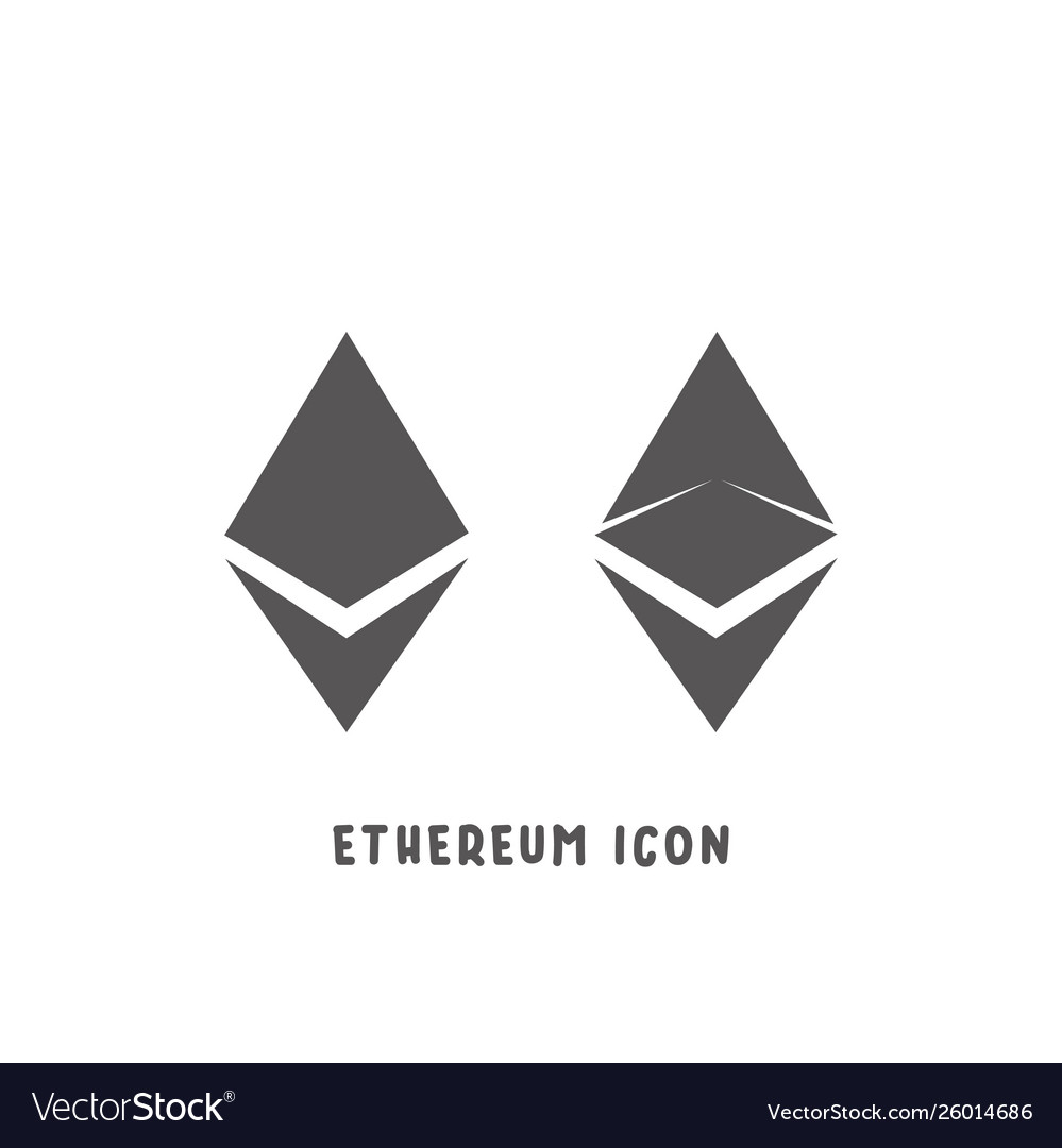 Ethereum cryptocurrency icon simple flat style