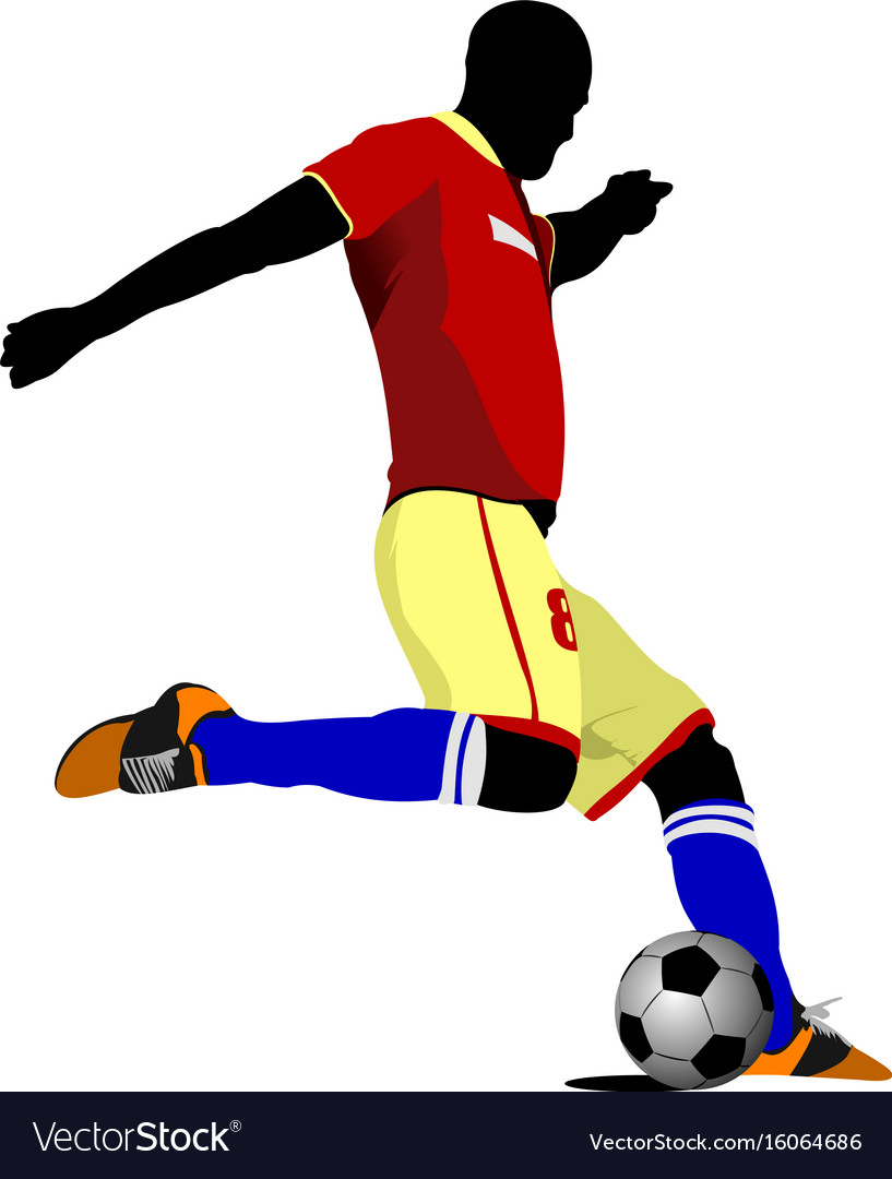 Football player colored vector image