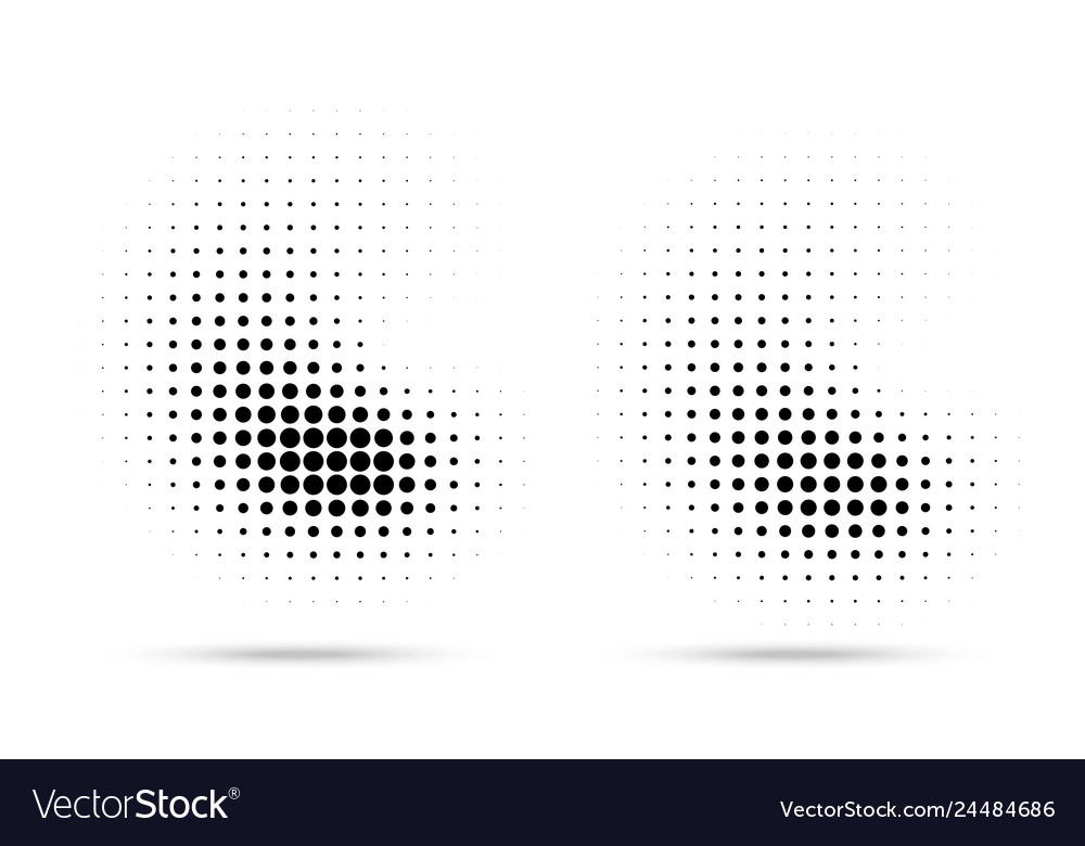 Halftone dots curve pattern texture background set