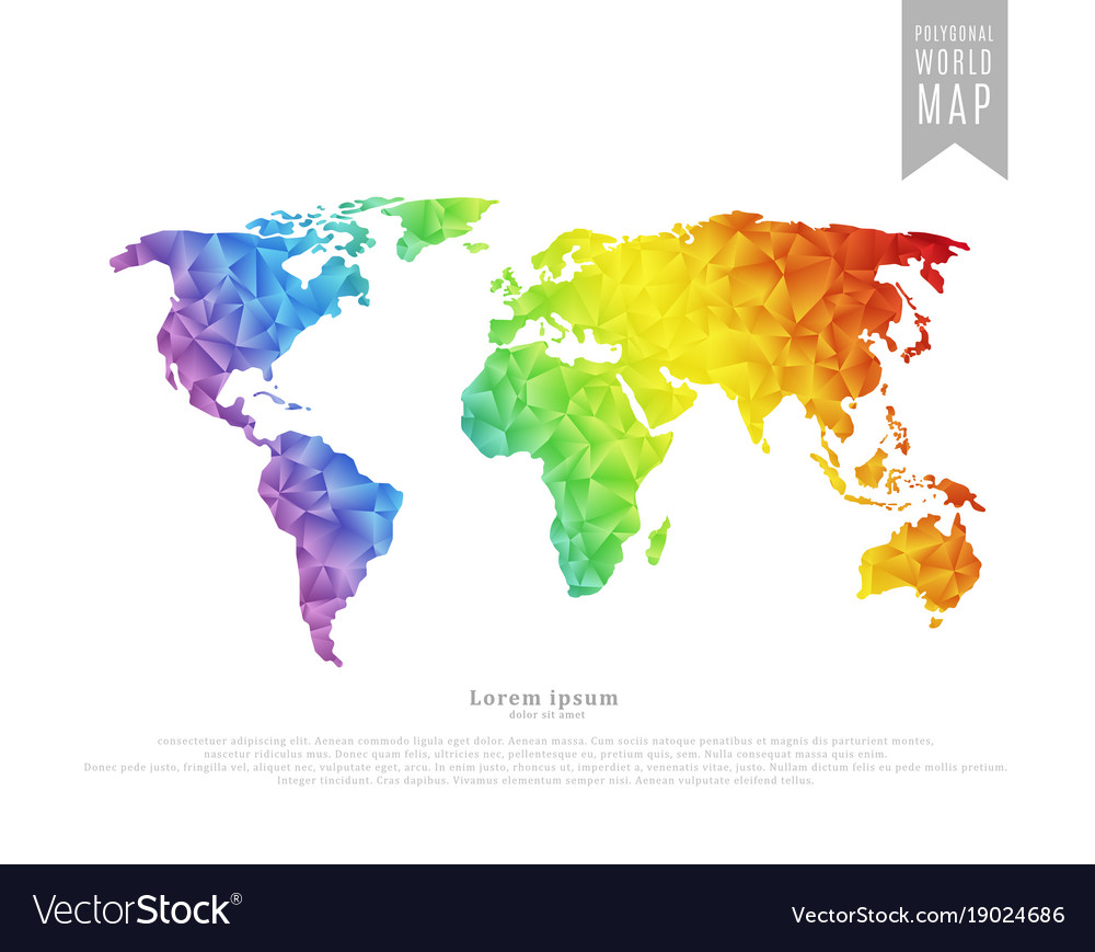 Polygonal world map royalty free vector image vectorstock polygonal world map vector image gumiabroncs Choice Image