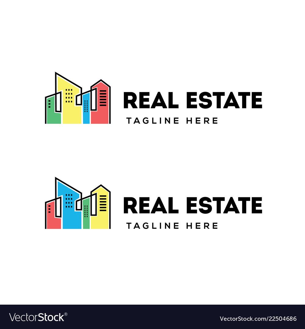 Real estate building logo design