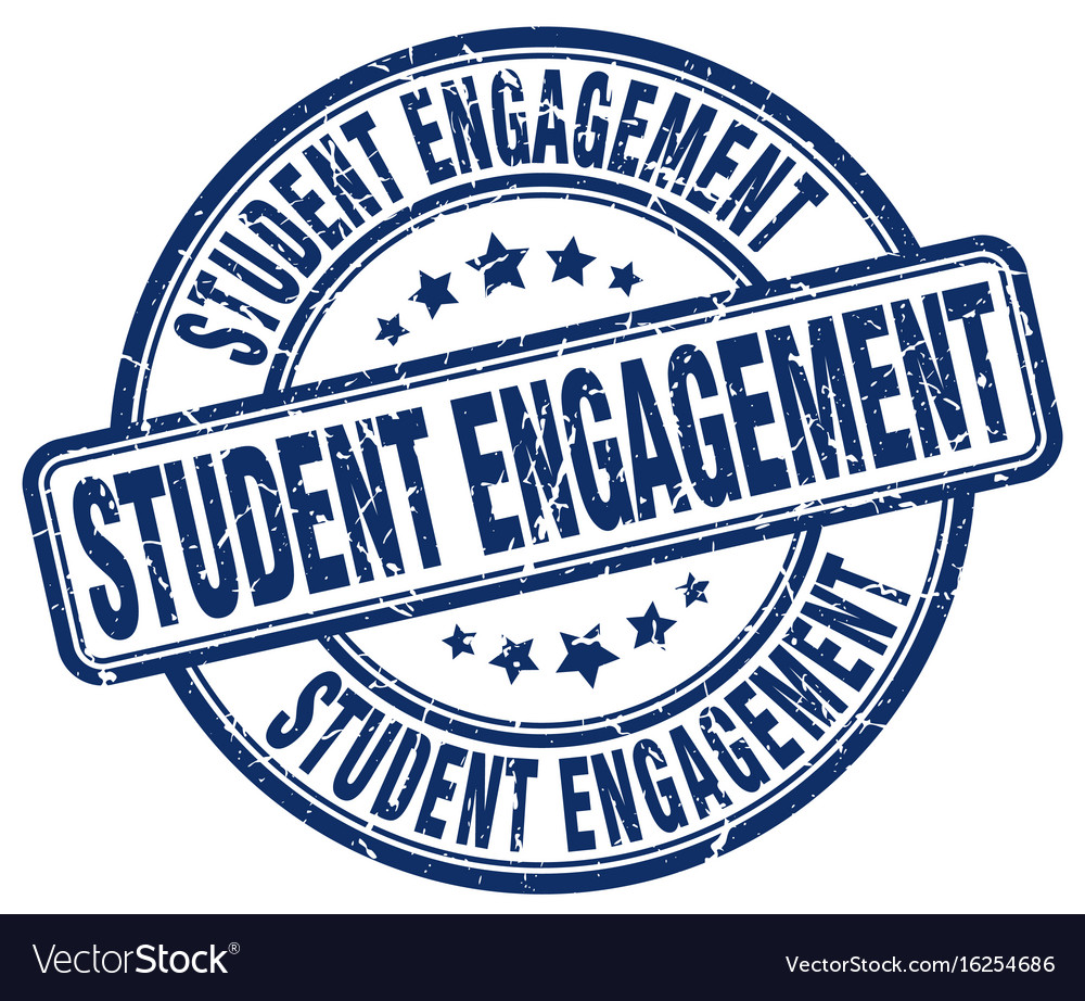 Student engagement blue grunge stamp vector image