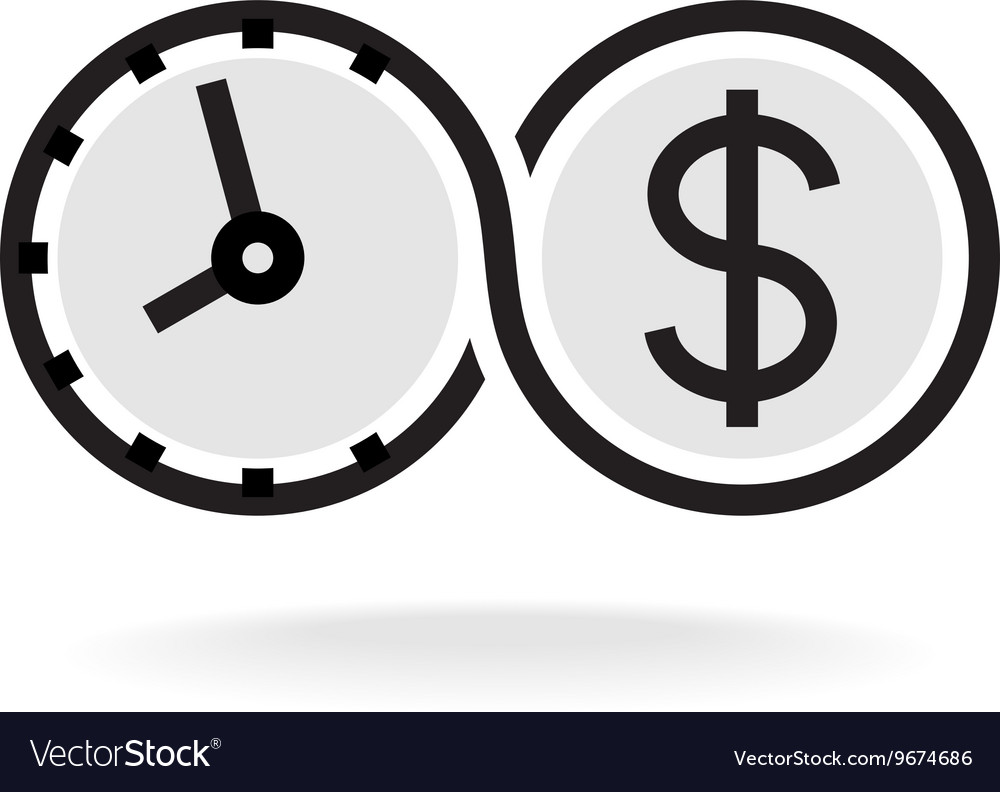 Time Is Money Infinity Symbol Business Logo Black Vector Image